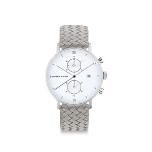 Damano chrono Silver Grey Woven Leather