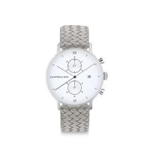 Damano chrono Silver Grey Woven Leather