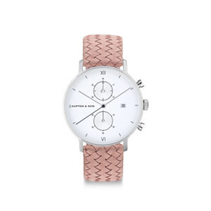 Damano chrono Silver Rose Woven Leather