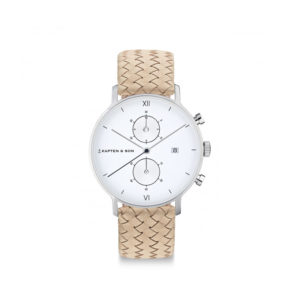 Damano chrono Silver Sand Woven Leather