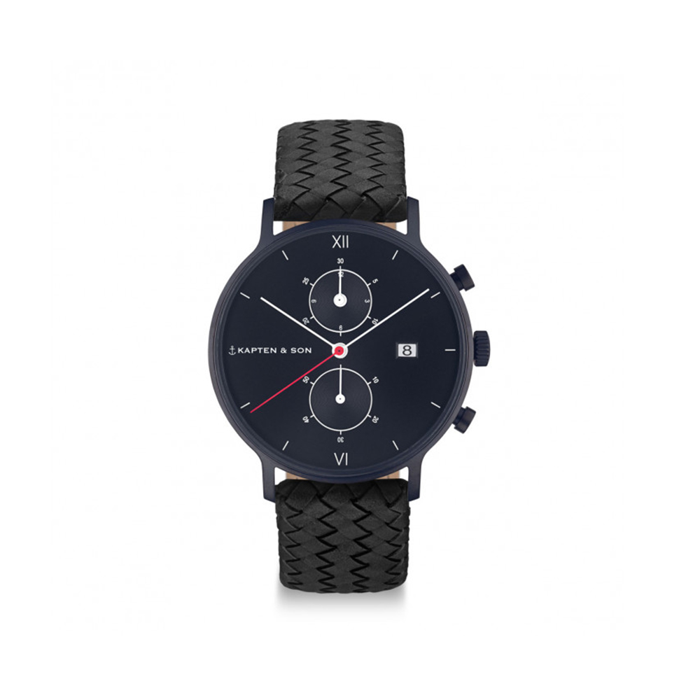 Damano chrono black midnight woven