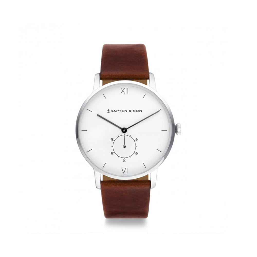 damano heritage silver brown leather front