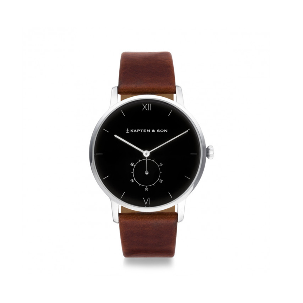 damano heritage silver black brown leather front