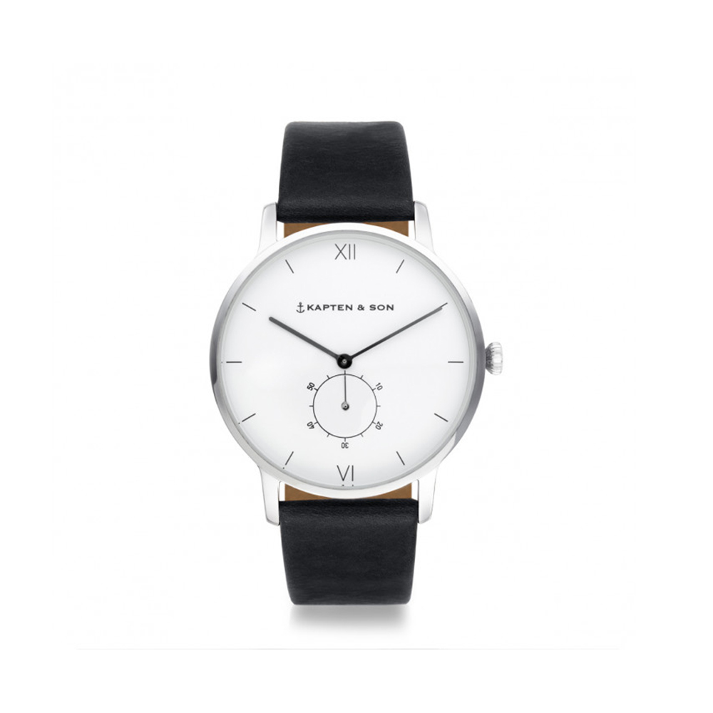damano heritage silver black leather front