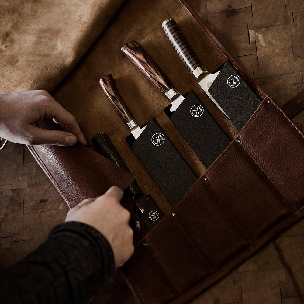 damano witloft knife roll dunkelbraun