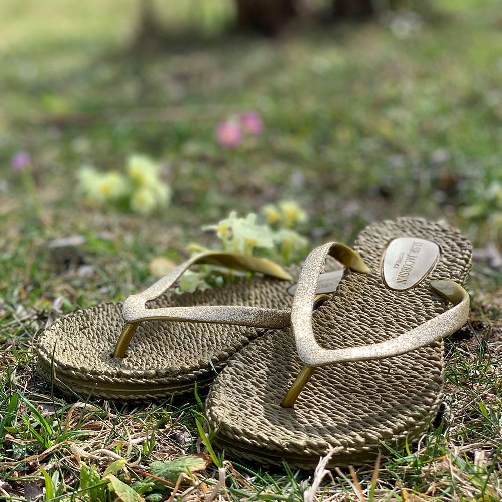 damano Flip Flops von Ilse Jacobsen oliv / gold